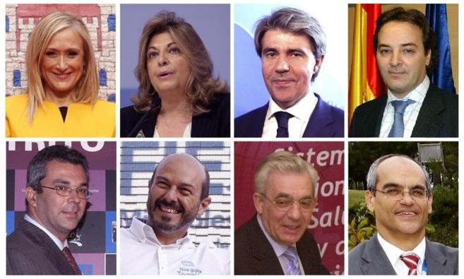 Cristina Cifuentes (Presidencia); Engracia Hidalgo (Hacienda); Ángel...