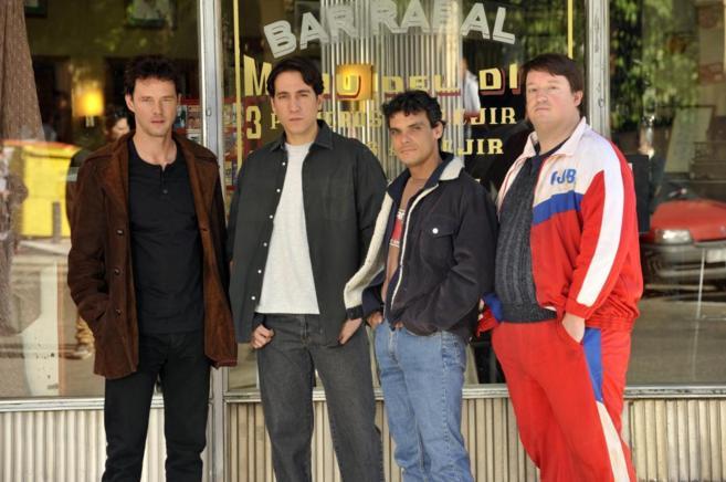 Los actores Eloy Azorín, Alberto Ammann, Críspulo Cabezas y Edgar...