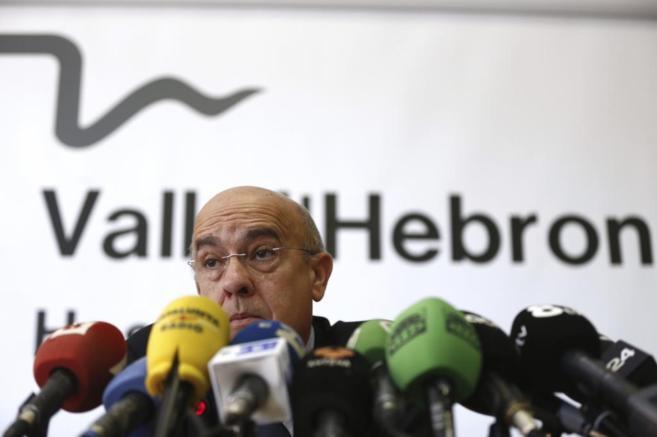 El consejero catalán de Salud, Boi Ruiz, durante la rueda de prensa.