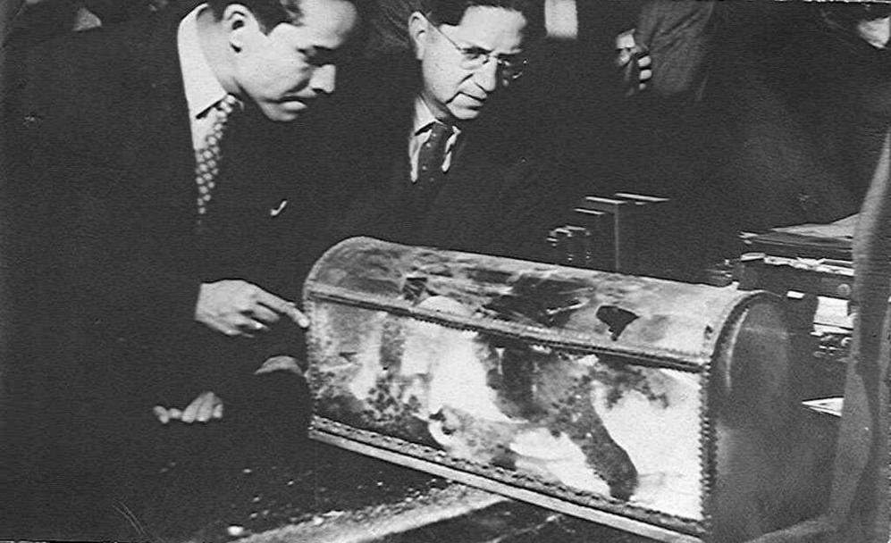 Los restos de Hernán Cortés, exhumados en los años 40.