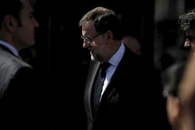 Mariano Rajoy, el sábado, en la toma de posesión de Cristina...