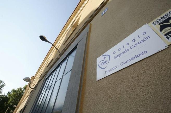 Una de las fachadas del colegio Sagrado Corazón de Chamartín...