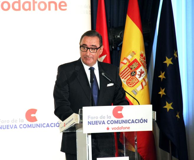 El periodista Carlos Herrera, en el Foro de la Nueva Comunicación.
