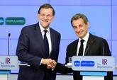 Mariano Rajoy y Nicolas Sarkozy en un momento de la rueda de prensa.