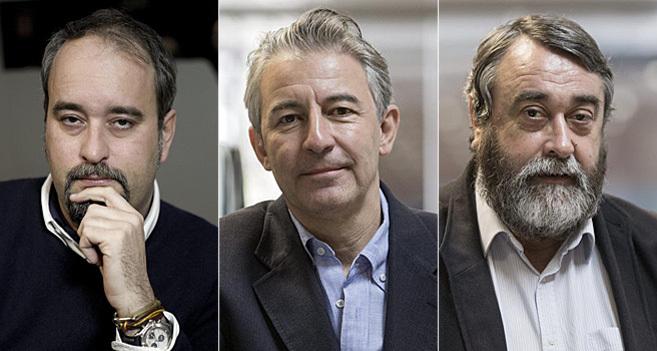De izquierda a derecha, Agustín Pery, Iñaki Gil y Pedro G....