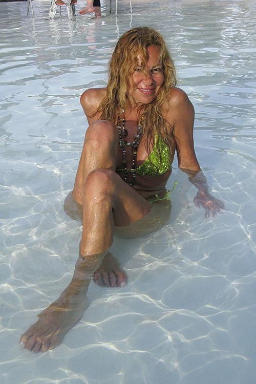 En 2008, posando en Miami.