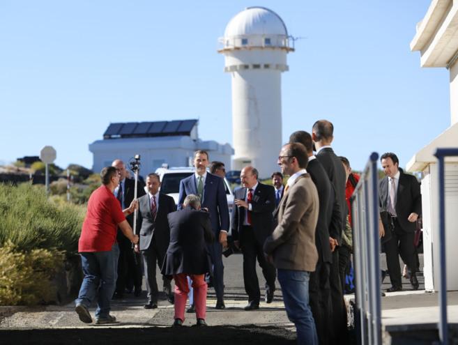 El Rey, en la inauguración de las instalaciones del proyecto Quijote,...