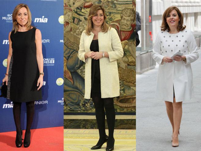 De izq. a derecha: Carme Chacón, Susana Díaz y Soraya Sáenz de...
