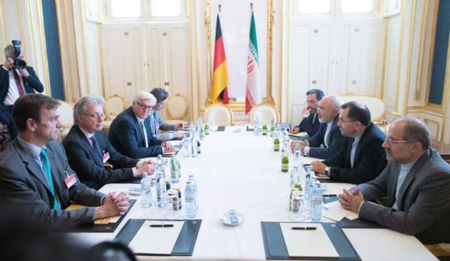Un momento de la negociación ayer en Viena.