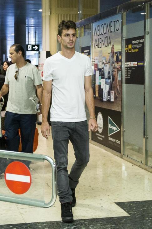Caio, a su llegada a Valencia hace apenas cuatro días.