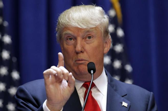 Donald Trump, el día que anunció su candidatura a la carrera...