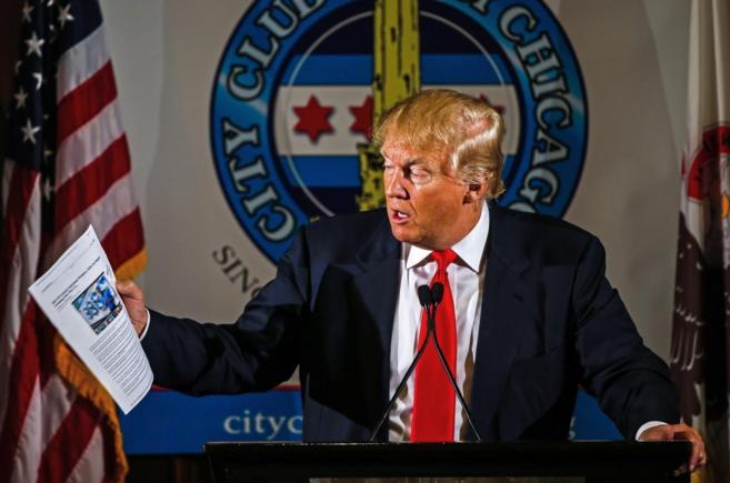 El empresario y candidato a la presidencia de los Estados Unidos por...