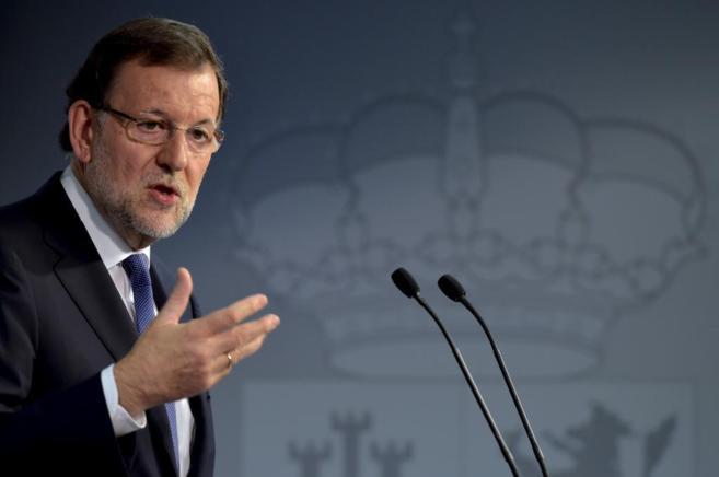 Mariano Rajoy durante su intervención en Bruselas del pasado viernes.