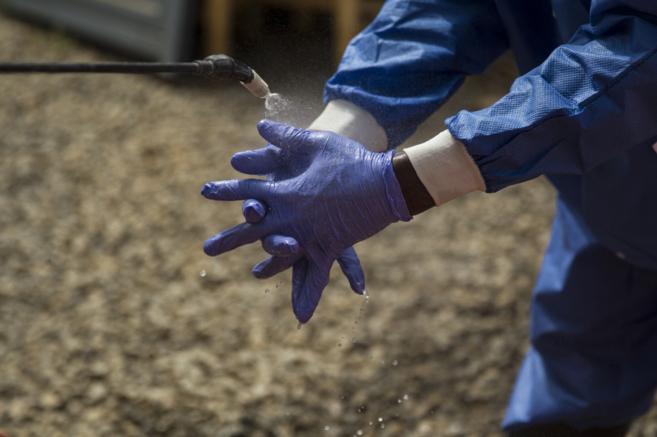 Lavado de manos en Liberia.
