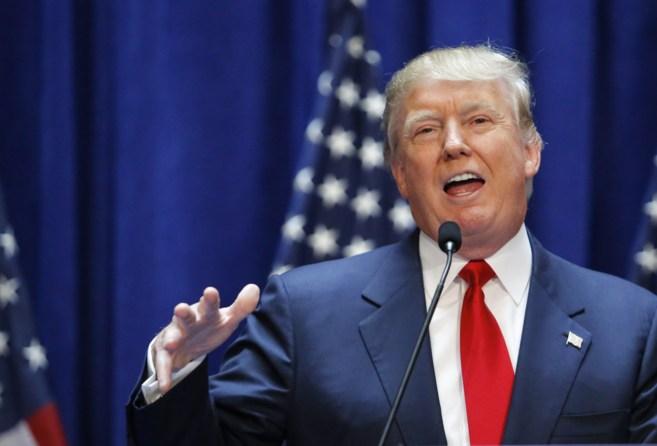 Donald Trump al anunciar su precandidatura para las elecciones...