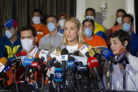 Lilian Tintori durante una rueda de prensa en Caracas, en Venezuela.