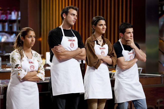 De izquierda a derecha: Sally, Antonio, Andrea y Carlos, finalistas de...