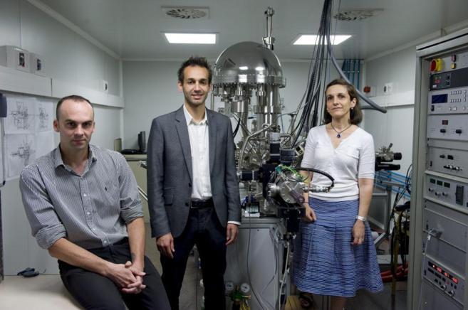 David Pastorino, Yassine Maazouz y Mari Pau Ginebra de la empresa...