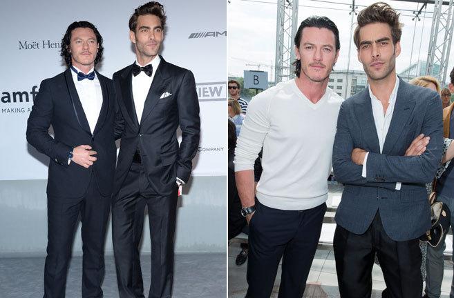 El modelo internacional Jon Kortajarena y el actor Luke Evans cuando...