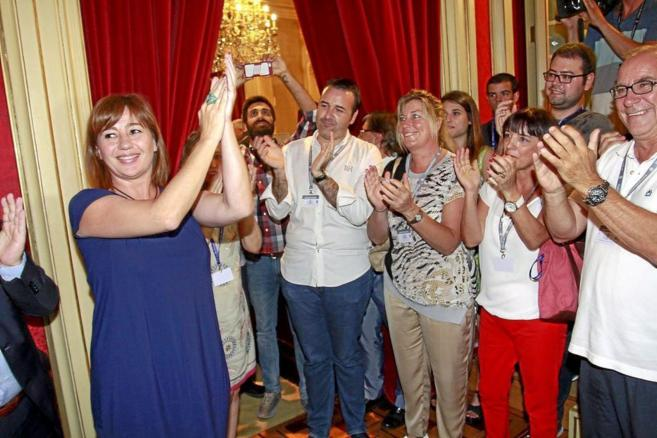 Francina Armengol tras su  investidura como presidenta del Govern...