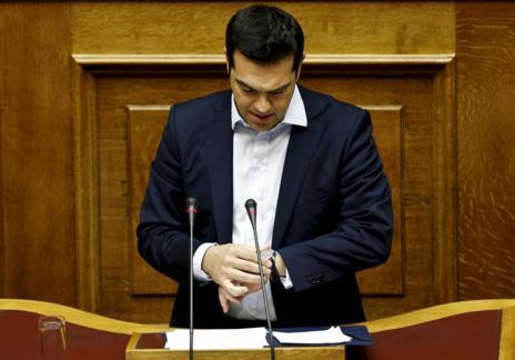 Alexis Tsipras, primer ministro de Grecia, en una sesión en el Parlamento de Atenas.