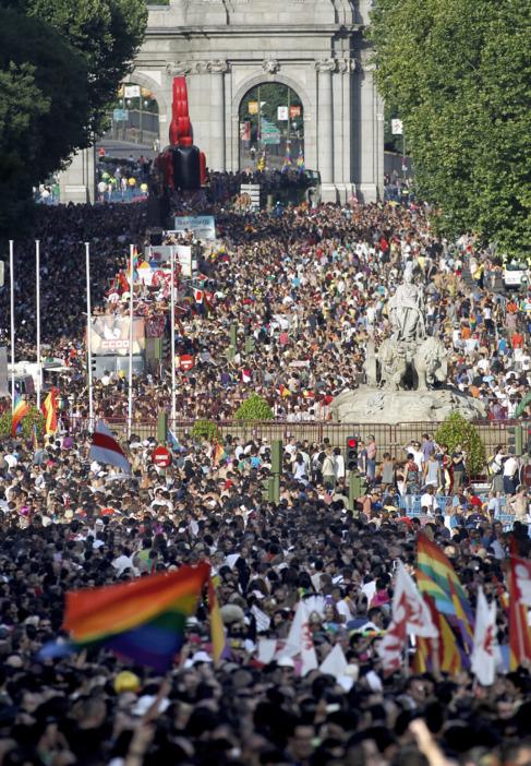 Imagen del desfile del Orgullo de una edición pasada.