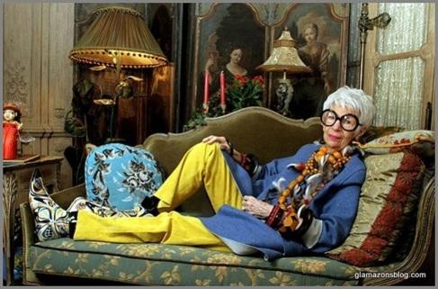 La decoradora de interiores Iris Apfel.