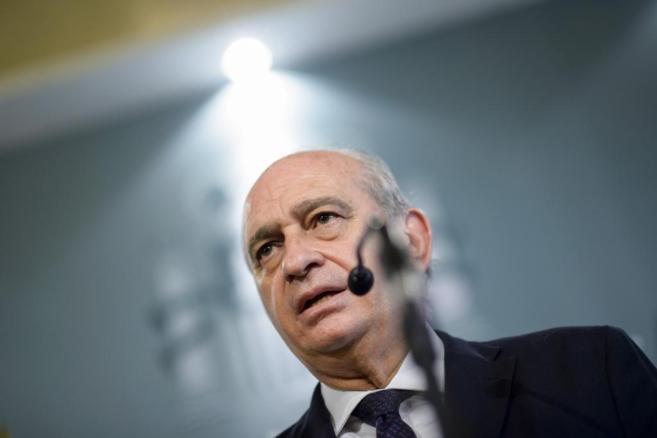 El ministro del Interior, Jorge Fernández Díaz, el pasado viernes en...
