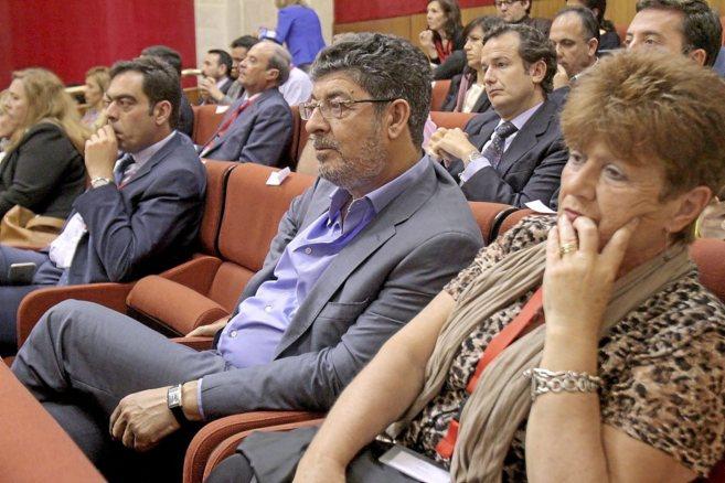 El ex vicespresidente de la Junta, Diego Valderas, en el debate de...