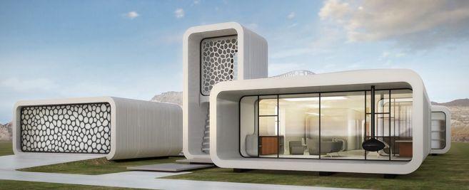 Diseño de la oficina impresa en 3D que se instalará en Dubai.