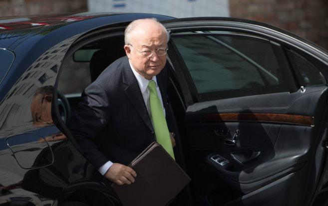 El director general del OIEA, Yukiya Amano, al llegar al Palacio de...