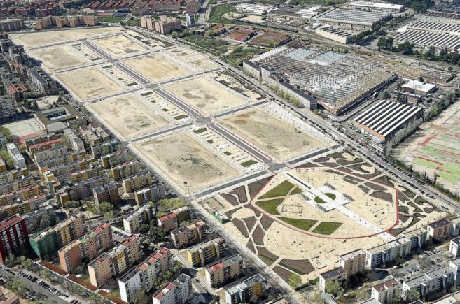 Imagen aérea de los terrenos, ya urbanizados, de la actuación...