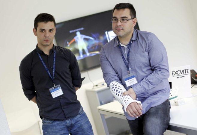 El CRO de Exovite, Lucas Pedrajas, y el CEO, Juan Monzón, con su...