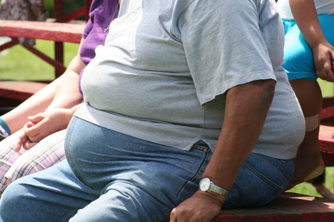 Una persona con sobrepeso