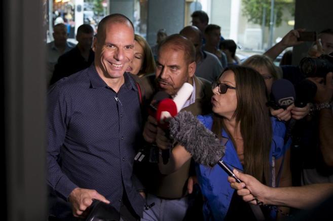 El ministro de Economía griego, Yanis Varufakis, hoy en Atenas