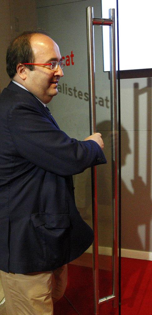Miquel Iceta, ayer, tras presentar el programa electoral del PSC.