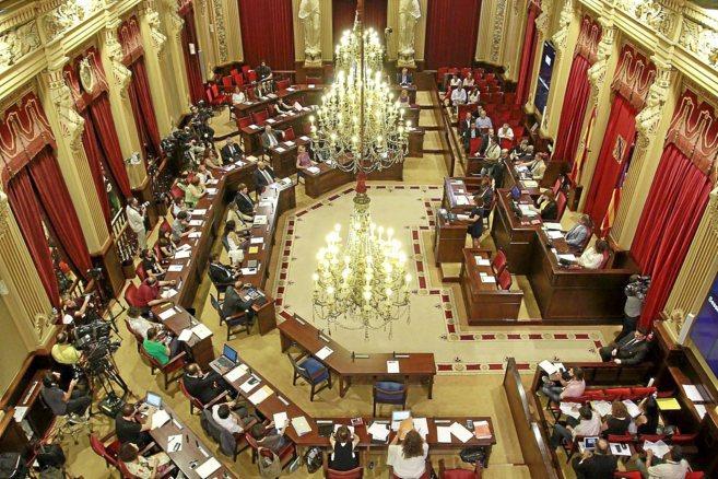 El Parlament celebrando el martes la sesión de investidura de...