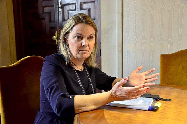 La presidenta en funciones del Consell de Mallorca, Maria Salom, en...