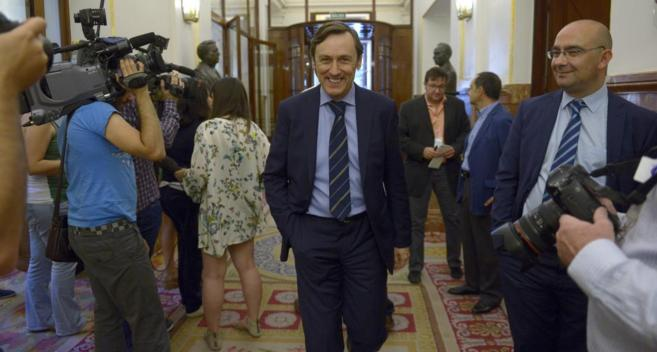 Rafael Hernando, en el Congreso.