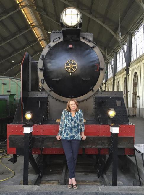 Paula Hawkins, la autora de 'La chica del tren', en el Museo...