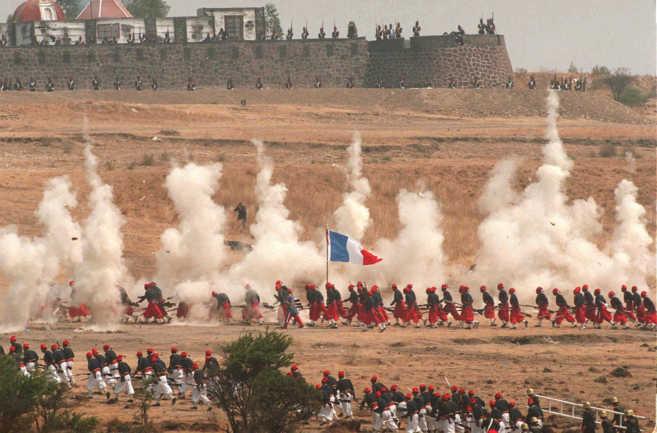 Recreación de la histórica Batalla de Puebla que convirtió a...