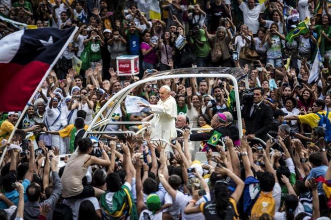 El Papa Francisco en su visita a Río de Janeiro en 2013.