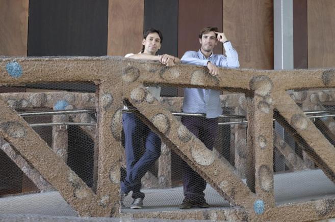 Mario Vottero y Daniel Peral  en la sede del Parc Científic de...