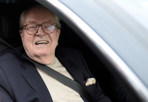 El fundador y ex líder del Frente Nacional de Francia, Jean-Marie Le...