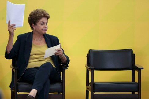 Dilma Rousseff en el Palacio de la Meseta.
