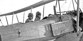 Un vuelo de prueba de 1913 que forma parte de la muestra