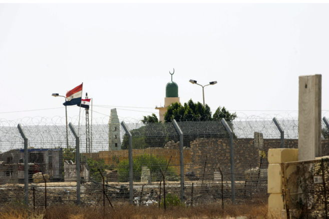 Vista de la frontera de Israel con Egipto, en Kerem Shalom.