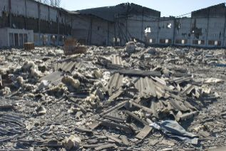 Nave industrial afectada por amianto.