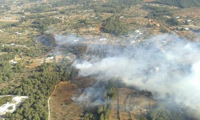 Las llamas se están propagando a gran velocidad y varias casas ya han...