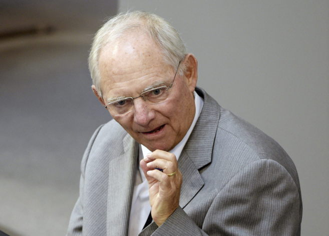 El ministro de Finanzas alemán, Wolfgang Shäuble, en el Bundestag.